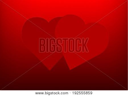 Happy valentines day and wedding design elements. Heart is fall love frame. Vector illustration.