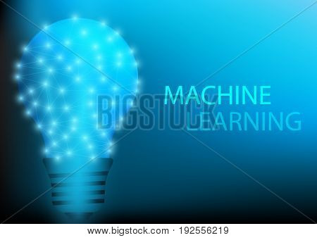 Abstract digital and technology background. Artificial Intelligence concept with machine learning.