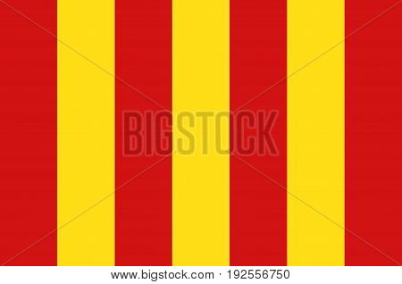 Flag of Forcalquier is a commune in the Alpes-de-Haute-Provence department in southeastern France. Vector illustration