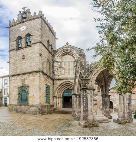 View at the church of Nossa Senhora da Oliveira in Guimaraes - Portugal