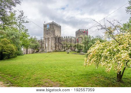 View at the Castle of Guimaraes in Portugal