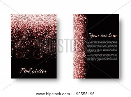 Bling background with abstract light. Shine bright on a black backdrop.
