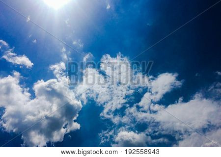 beautiful blue sky with clouds background.Sky clouds.Sky with clouds weather nature cloud blue.Blue sky with clouds and sun.