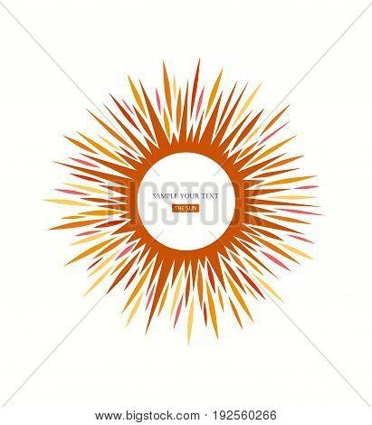 Sun icon sign. Sunlight Logo abstract design.