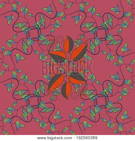 Seamless floral pattern with blue flowers watercolor. Vector flower illustration. Seamless pattern with floral motif.