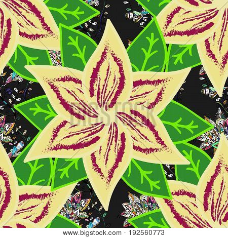 Vector cute pattern in small flower. Motley illustration. Spring floral background with flowers. Small colorful flowers. The elegant the template for fashion prints.