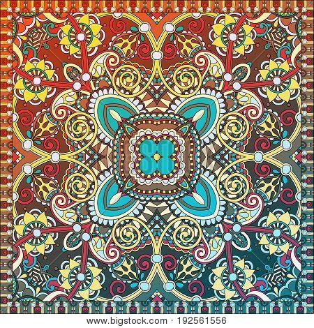 paisley bandanna to print on fabric, vector illustration