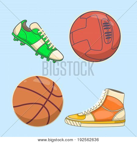 Sneakers icon in flat style isolated on white background. Shoes symbol stock flat vector illustration