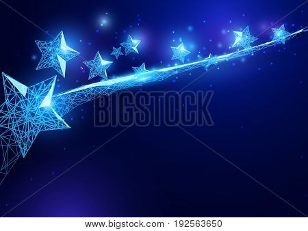 Happy independence day.stars form of a starry sky on blue background