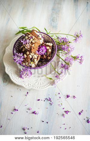 Kuchen Dessert With Flowers