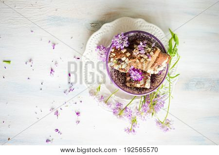 Kuchen Dessert With Flowers