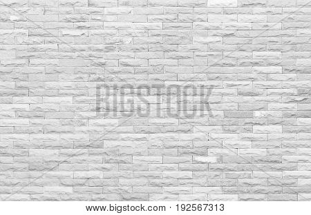 Modern white grey wall texture background. Marble light gray block brick for interior and exterior decoration or design.