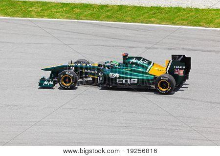 Sepang, Malaysia - April 8: Heikki Kovalainen (team Lotus) At First Practice On Formula 1 Gp, April