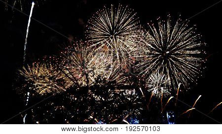 Japan New Year Hanabi Day Fireworks festival