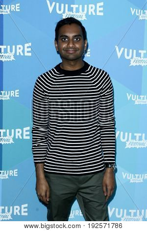 NEW YORK-MAY 20: Comedian Aziz Ansari attends 'Aziz Ansari: In Conversation' during the 2017 Vulture Festival at Milk Studios on May 20, 2017 in New York City.