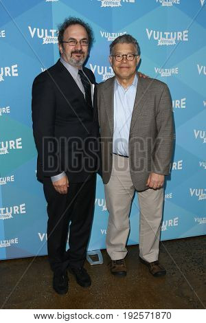 NEW YORK-MAY 21: Robert Smigel (L) and Senator Al Franken attend 'Al Franken and Robert Smigel: In Conversation' during the 2017 Vulture Festival at Milk Studios on May 21, 2017 in New York City.