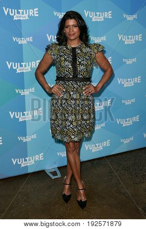 NEW YORK-MAY 21: Andrea Navedo attends the 'Jane the Virgin' tv panel during the 2017 Vulture Festival at Milk Studios on May 21, 2017 in New York City.