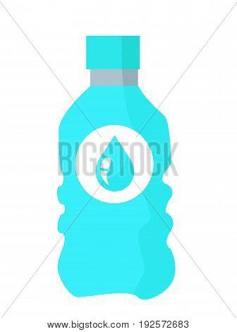 Water bottle vector illustration on white background