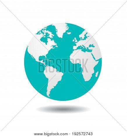 world globe illustration on white background art