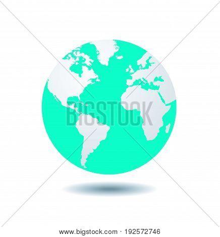 world globe vector illustration on white background