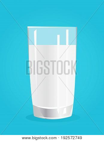 Fresh Milk Vector illustration on blue background
