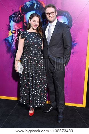 LOS ANGELES - JUN 20:  Seth Rogen and Lauren Miller arrives for the AMC Season Two 'Preacher' Premiere Screening on June 20, 2017 in Los Angeles, CA