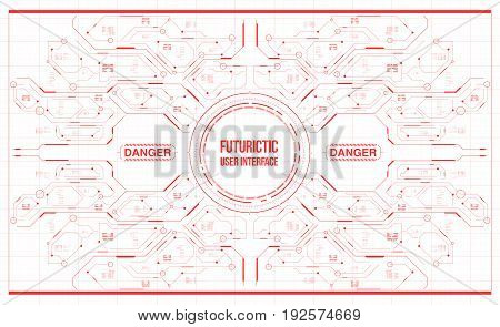 Background with futuristic user interface. Design concept with HUD elements.