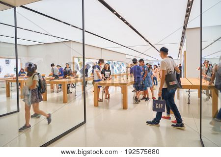 HONG KONG - CIRCA SEPTEMBER, 2016: Apple store at Hong Kong. Apple Store is a chain of retail stores owned and operated by Apple Inc.