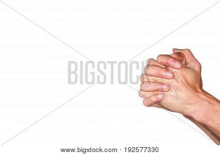 Praying hands. Praying hands Isolated on white background.