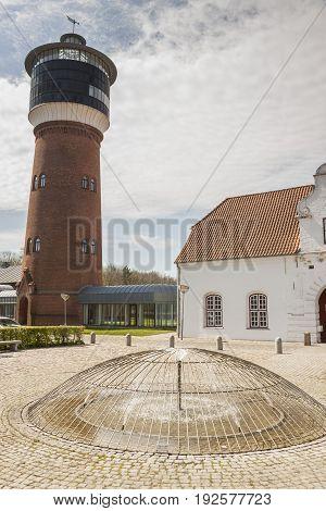 Old Lighthouse - Tonder in Denmark Europe.