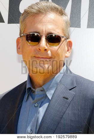 Steve Carell at the World premiere of 'Despicable Me 3' held at the Shrine Auditorium in Los Angeles, USA on June 24, 2017.