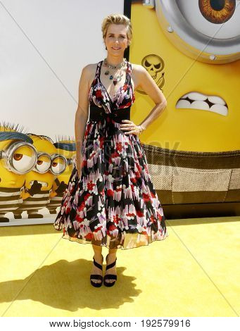 Kristen Wiig at the World premiere of 'Despicable Me 3' held at the Shrine Auditorium in Los Angeles, USA on June 24, 2017.