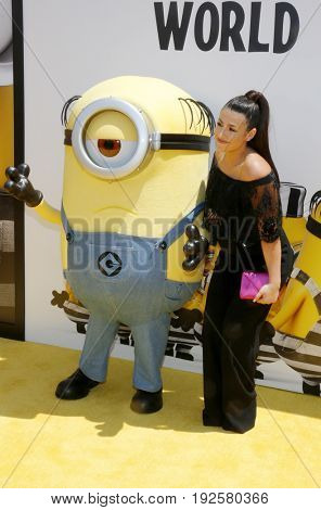 Dana Gaier at the World premiere of 'Despicable Me 3' held at the Shrine Auditorium in Los Angeles, USA on June 24, 2017.