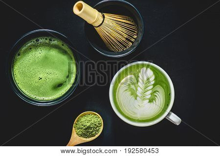 Matcha green tea. Matcha powder. Organic Green Matcha Tea.