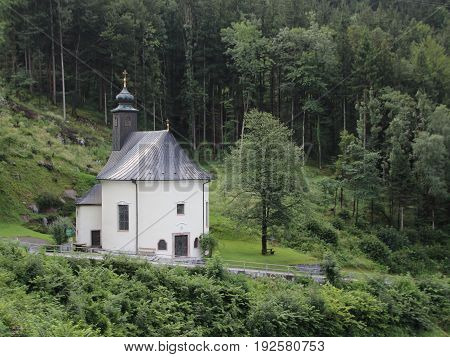 Old Road Chapel at Pass Lueg in Austria Europe