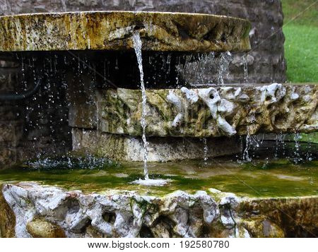 Water Fountain at Pass Lueg in Austria with Healing Water