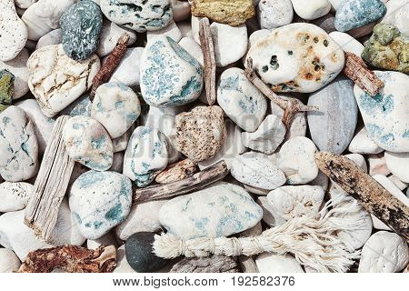 Different stone and marine wood textures for sea theme.