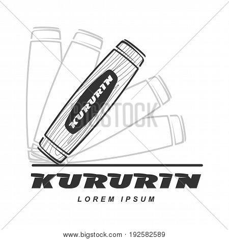 Hand Fidget Kururin Logo Vector Illustration