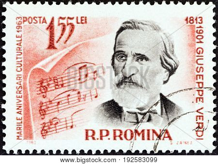ROMANIA - CIRCA 1963: A stamp printed in Romania from the