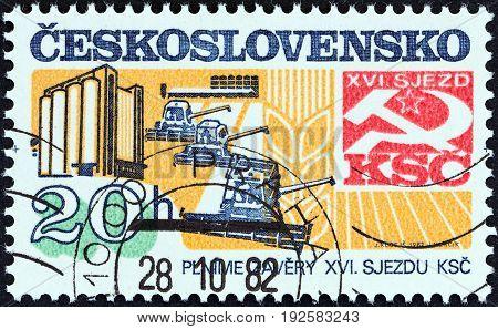 CZECHOSLOVAKIA - CIRCA 1982: A stamp printed in Czechoslovakia from the