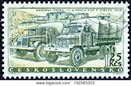 CZECHOSLOVAKIA - CIRCA 1958: A stamp printed in Czechoslovakia from the