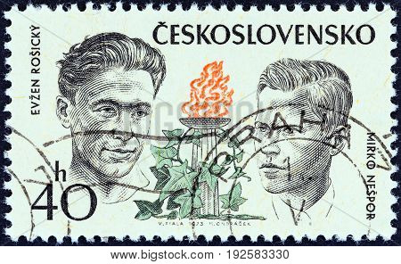 CZECHOSLOVAKIA - CIRCA 1973: A stamp printed in Czechoslovakia from the