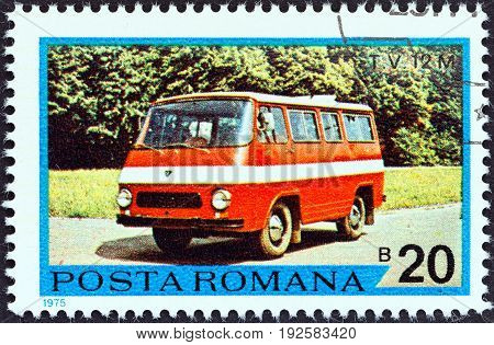 ROMANIA - CIRCA 1975: A stamp printed in Romania from the