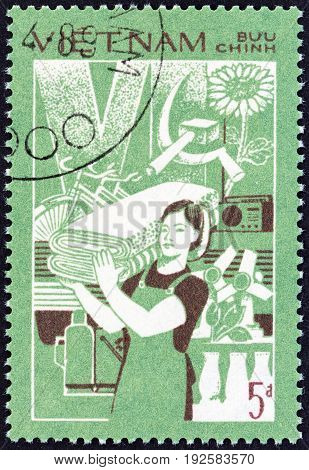 VIETNAM - CIRCA 1987: A stamp printed in Vietnam from the