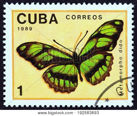 CUBA - CIRCA 1989: A stamp printed in Cuba from the