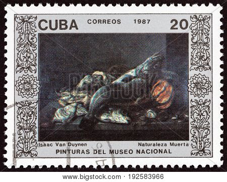 CUBA - CIRCA 1987: A stamp printed in Cuba from the