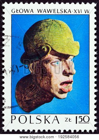 POLAND - CIRCA 1973: A stamp printed in Poland from the