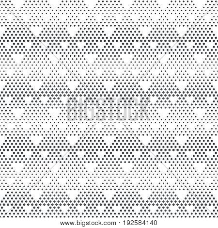 Vector seamless pattern. Stylish modern texture with constant repetition classical geometrical shapes small dots dotted halftone triangles. Contemporary design