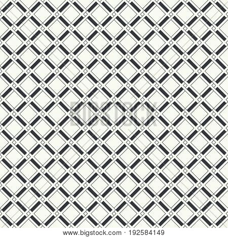 Vector seamless pattern. Stylish modern texture in the form rhombus tiles with constant repetition classical geometrical shapes rhombuses thin lines. Contemporary design