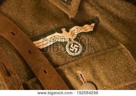 Closeup Of A German Uniform From Ww2